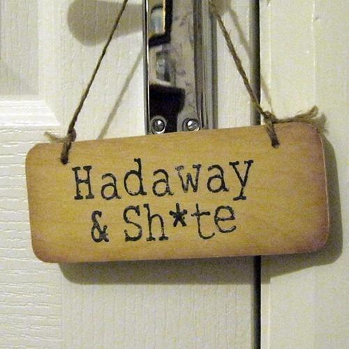 Wooden door sign hadaway sh te north east gifts - Wooden door signs for home ...