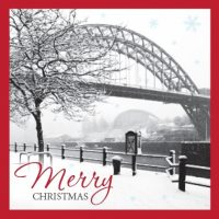 Snow On The Quayside Christmas Card