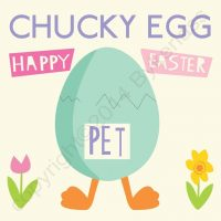 Chucky Egg Geordie Easter Card