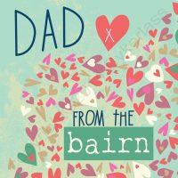 Dad from The Bairn Geordie Mackem Northumbrian Card