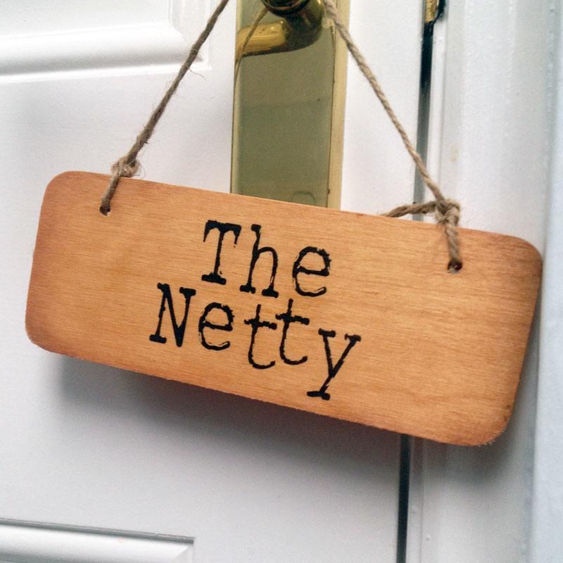 Wooden door sign netty give it ten minutes double - Wooden door signs for home ...