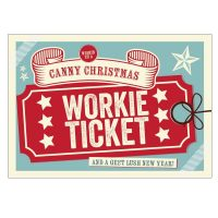 Workie Ticket Christmas Card North East