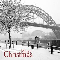 Newcastle Quayside Snow Christmas Card